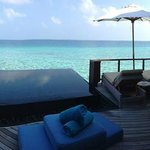 View out from water villa - simply amazing!
