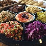 Take home on of our Mediterranean Platters which feeds 6 people.