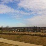 Vista dos campos de golfe