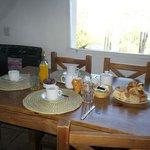 Desayuno entregado en la cabaña