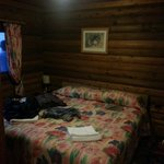 One of the double beds in the 3 bed lodge called Dunvegan