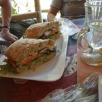 Vegetarian sandwich-also yummy!
