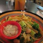 Salad and Ice Lemon Tea in the Lent Menu
