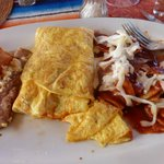 My amazing Omelet and Chilaques