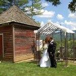 Wedding garden with mountain views