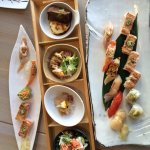 A selection of sushi