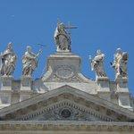 Statuary on the parapet