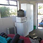 Appliances balanced in the Standard cabin.