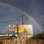Sign with Rainbow