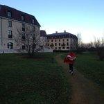 Walking trail around hotel