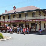 Great Southern Inn Eden freshly painted with Clydesdale horses