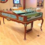 Piano on display at the MIM