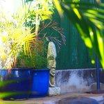 Poolside art..