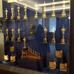 The display of Academy Awards won by Disney in Walt's lifetime in the lobby