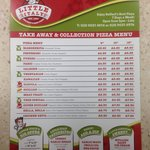 The menu,very good selection at very keen prices