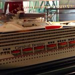 Replica Cruise Ship on top level of Museum