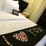 Honeymoon welcome set-up