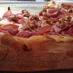 Pepperoni, sausage, and can bacon! ��