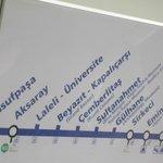 Paradas del tranvía linea azul