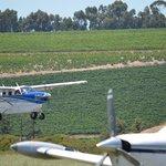 A Kodiak landing at Stellenbosch Airfield