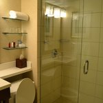 bathrom with walk in shower