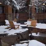 snowy chairs