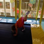 Attempting a handstand on trampoline!