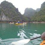 Kayaking on Ha Long Bay