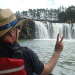 Kayaking up to Haruru falls just short drive from paihia