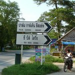 Road signs to Sea Bees Diving and Palm Garden Resort