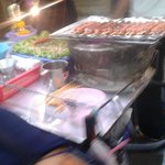 Thai foods street around Pratunam
