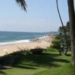 Blick auf den Strand vom Zimmer