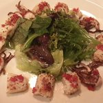 Char-grilled baby octopus
