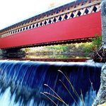 Vermont Covered Bridge at Papermill Village