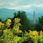 View of the Bennington Battle Monument & Green Mts
