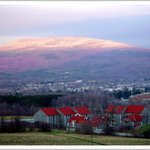 View of Green Mountains from Southern Vermont College