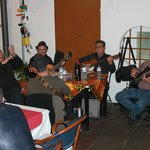 Canarian group playing at the restaurant