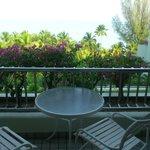 balcony facing the sea