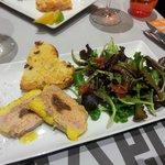 Foie gras (à tomber, je conseille le VT Mosellan qui va avec)