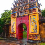 Traditional Vietnamese Style Gate at Hue Imperial City