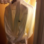 Nice touch. Robes and padded hangers. Room 203.