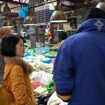Showing us around a market