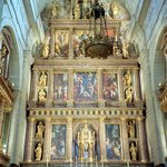Behind the high alter at El Escorial
