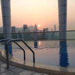 Sunset from the roof top pool area