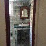 entrata del bagno in camera