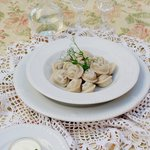 HOMEMADE DUMPLINGS Of three kinds of meat with herbs