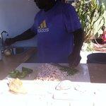 Derek preparing Conch Salad!