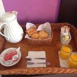 Breakfast brought to room