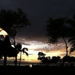 Beautiful sunset overlooking the Pacific Ocean