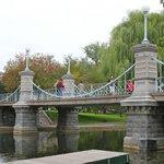 Lovely Bridge across Pond